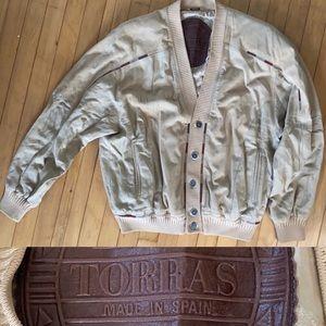 Spanish Torras Suede Sweater Jacket